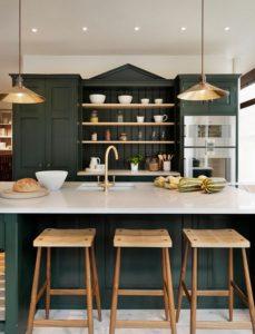 hunter green kitchen